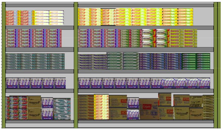 Планограмма, автоматически созданная экспертной системой JDA